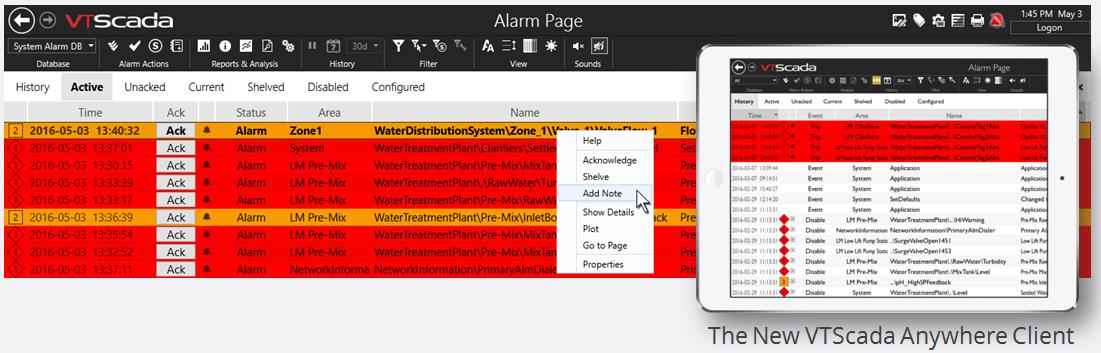 VTScada 11.2 Alarm Manager