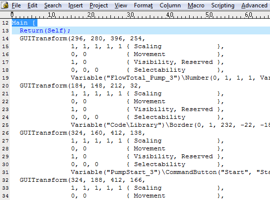 SCADA Scripting Language
