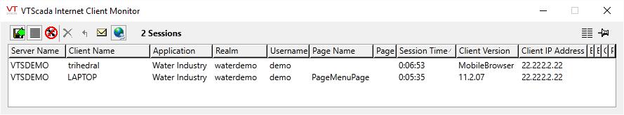 VTScada Thin Client Monitor