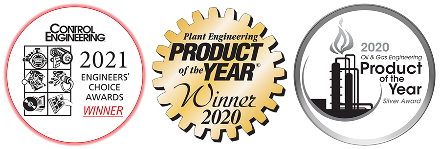 "2021 - Control Engineering Engineers' Choice Award ""HMI Software"" Category 2020 - Plant Engineering Product of the Year ""Automation & Controls"" Category 2020 - Oil & Gas Engineering Product of the Year ""IIoT & Process Controls"" Category"